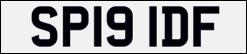 ANPR Number plate recognition SP19IDF